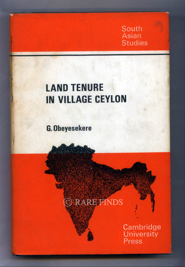 /data/Books/LAND TENURE IN VILLAGE CEYLON A SOCIOLOGICAL AND HISTORICAL STUDY.jpg