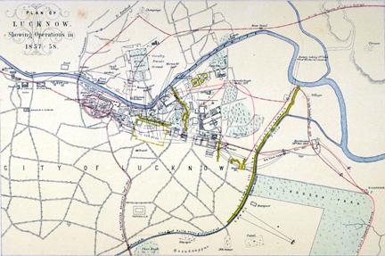 /data/Maps/City and Town Maps/PLAN OF LUCKNOW SHOWING OPERATION IN 1857-58.jpg