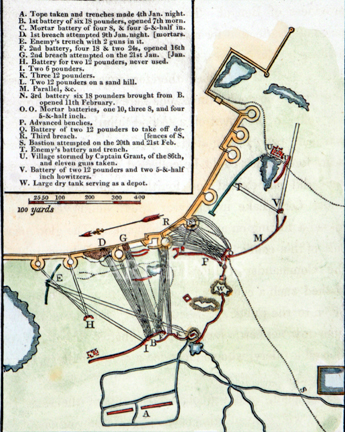 /data/Maps/General/PLAN OF LORD LAKES UNSUCCESSFUL ATTACK ON THE FORT OF BHURTPOOR - A D 1804.jpg