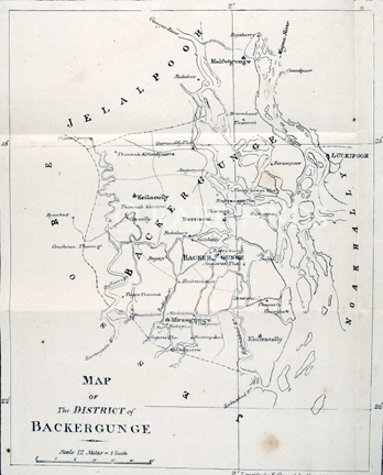 /data/Maps/India - Hindoostan/MAP OF THE DISTRICT OF BACKERGUNGE.jpg