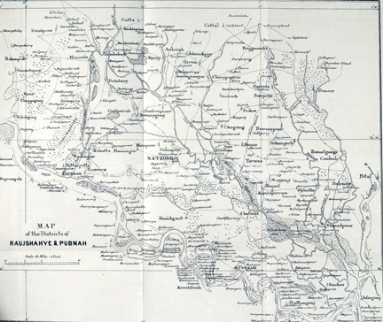 /data/Maps/India - Hindoostan/MAP OF THE DISTRICTS OF RAUJSHAHYE AND PUBNAH.jpg