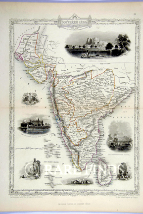 /data/Maps/India - Hindoostan/SOUTHERN INDIA - INCLUDING THE PRESIDENCIES OF BOMBAY AND MADRAS - TALLIS MAP.jpg